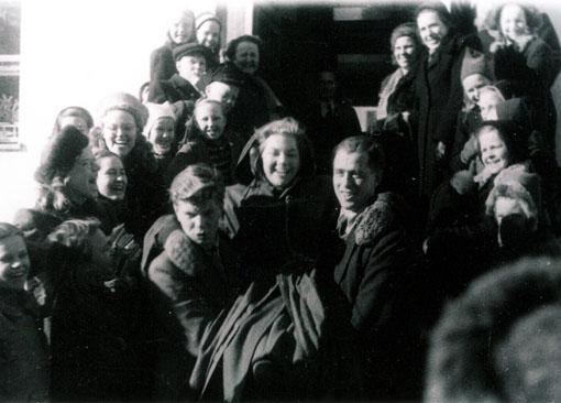 Anja Salmen penkkarikuva vuodelta 1948.