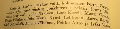 Vuosikertomus 1964-1965